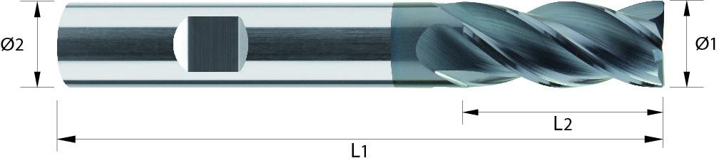 Frez wysokowydajny z węglika spiekanego VHM, HB, VAROCON