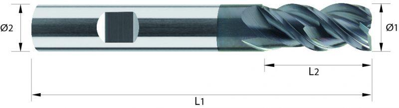 Frez wysokowydajny z węglika spiekanego VHM, HB, ALTIN