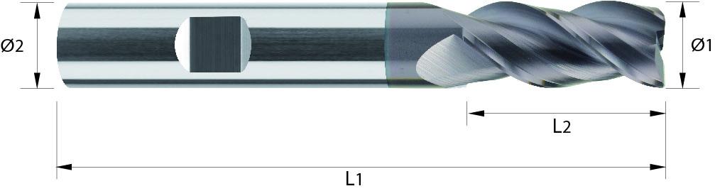Frez wysokowydajny z węglika spiekanego, VHM, HB, TIALN