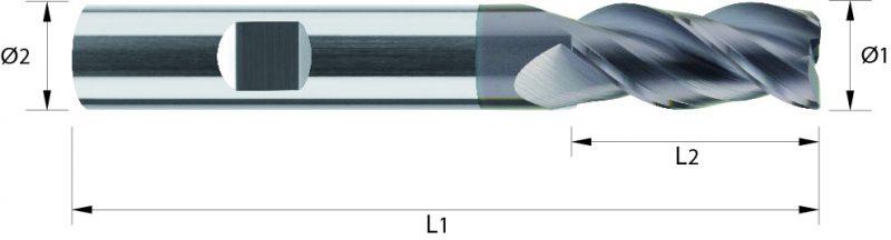 Frez pełnowęglikowy HPC VHM, HA, HB, TIALCN