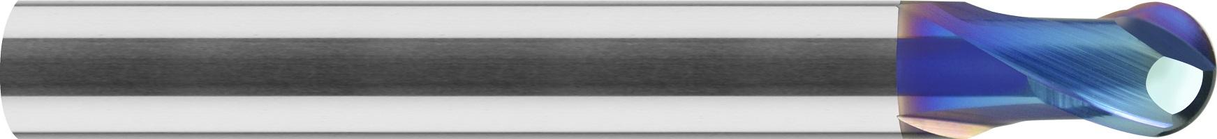 Frez kulowy, Z-2, 65 HRC, Dynastar, VHM naco blue (403)