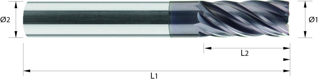 Frez trzpieniowy, Z-3/6, Starmax, Multicut, 44 HRC, INOX, VHM TiALN (411)