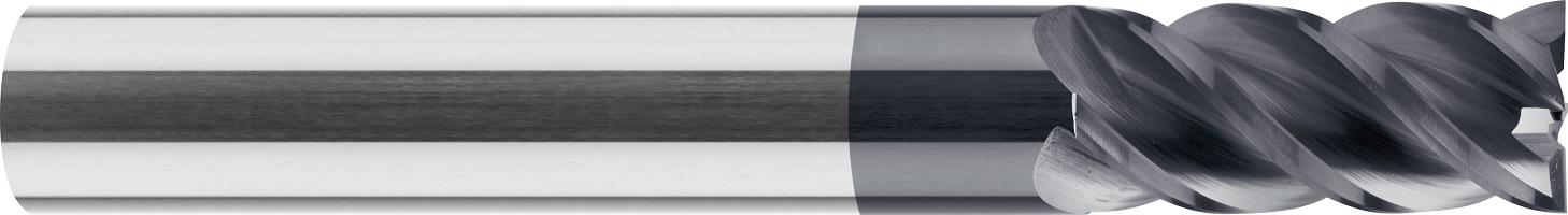 Frez trzpieniowy, uniwersalny, długi, Z-4, HB, 44 HRC, INOX, VHM TiALN (513)
