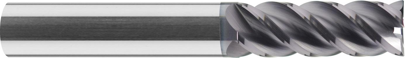 Frez trzpieniowy, długi, Z-4, HB, spirala 45°, 44 HRC, INOX VHM TiALN (515)