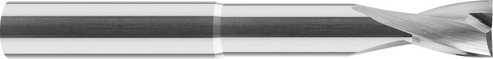 Frez wykańczający, z obniżeniem, Z-2, ALUMINIUM, TWORZYWA, VHM bez pokrycia (605)