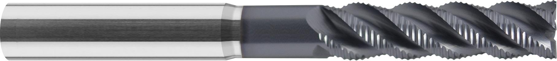 Frez do obróbki zgrubnej, bardzo długi, łamacz wióra typ-NR, HPC, 44 HRC, INOX, VHM (517)
