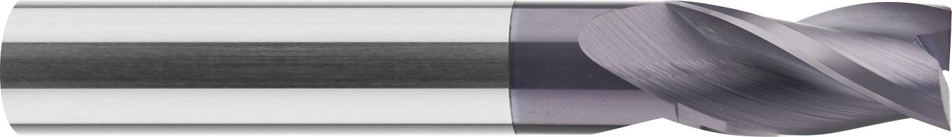 Frez trzpieniowy, Z-3, HB, 44 HRC, ALUMINIUM, INOX, VHM NACO BLUE (518)