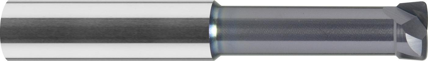 Frez do kopiowania, krótki, z promieniem naroża, Z-2, STIRNTORUS, HSC, 60 HRC, VHM ALTiN (433)
