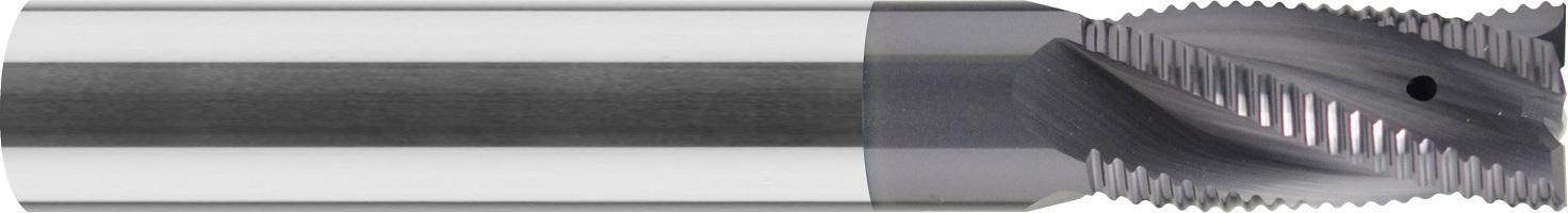 Frez do obróbki zgrubnej, łamacz wióra typ-NR, z fazą naroża, HPC, 44 HRC, INOX, ALUMINIUM, VHM TiALN (519)