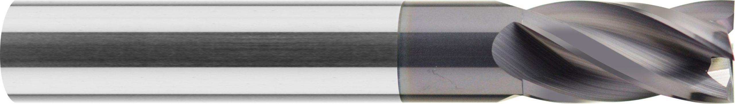 Frez, krótki, Z-4, HA, 44 HRC, ALUMINIUM, INOX, VHM bez pokrycia (520)