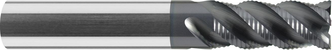 Frez do obróbki zgrubnej,łamacz wióra typ NRf, długi, Z-3>6, HA, HB, 44 HRC, INOX, TYTAN, HPC, Quickmax, 1- WYBÓR, VHM ALTiN (440)