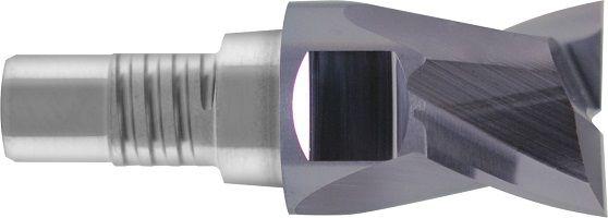 Frez nakręcany, modułowy, INOSCREW, Z-2, 44 HRC, INOX, VHM TiALN (800)