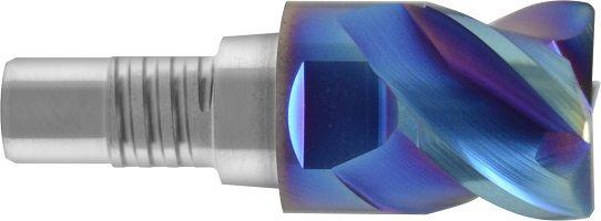Frez nakręcany, modułowy, INOSCREW, Z-4, HSC, promień naroża, 65 HRC, VHM NACO BLUE (817)