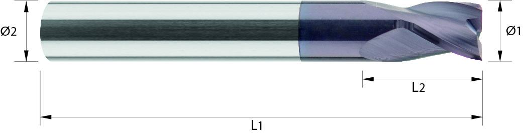 Frez, HSC, do obróbki tworzywa, zgrubny (620)
