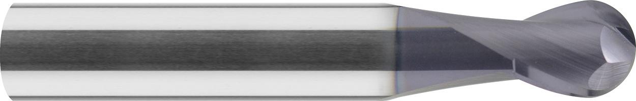 Frez kulowy, Z-2, HSC, 55 HRC, VHM TiALN (551)