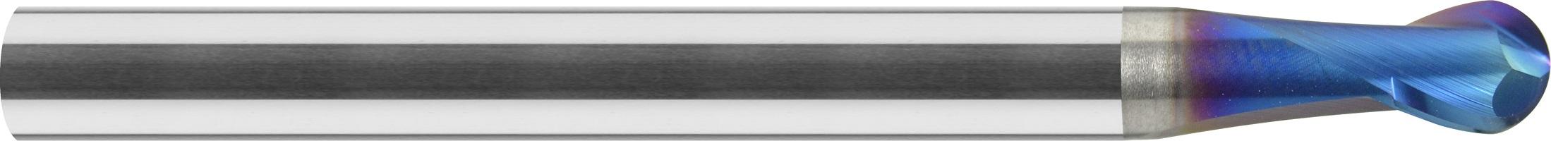 Minifrez kula, Z-2, HA, HSC, 65 HRC, PrimeLine, VHM NACO BLUE (453)
