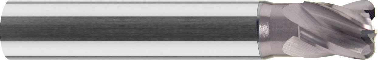Frez do kopiowania, krótki, z obniżeniem, promień naroża, Z-4, HSC, 65 HRC, VHM TiALN (460)