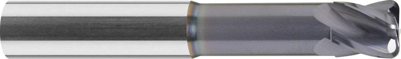 Frez do kopiowania, z obniżeniem, promień naroża, Z-4, HA, 65 HRC, VHM TiALN (461)