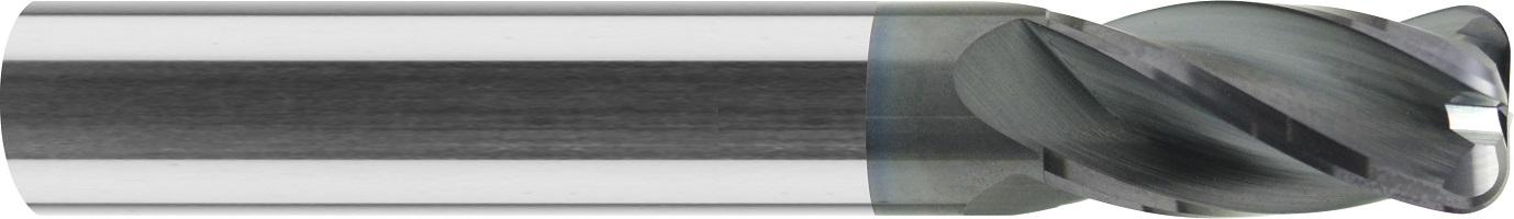 Frez do kopiowania, krótki, promień naroża, Z-4, HA, HSC, 65 HRC, VHM ALTiN (463)
