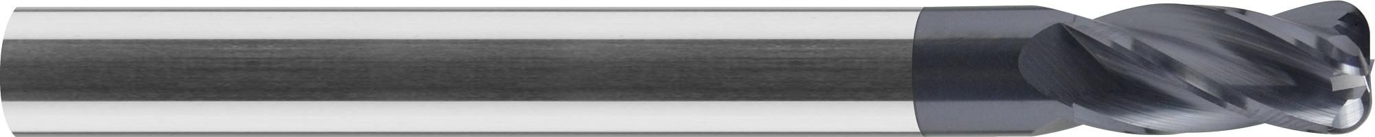 Frez do kopiowania, krótki, promień naroża, Z-4, HA, HSC, 65 HRC, VHM ALTiN (464)