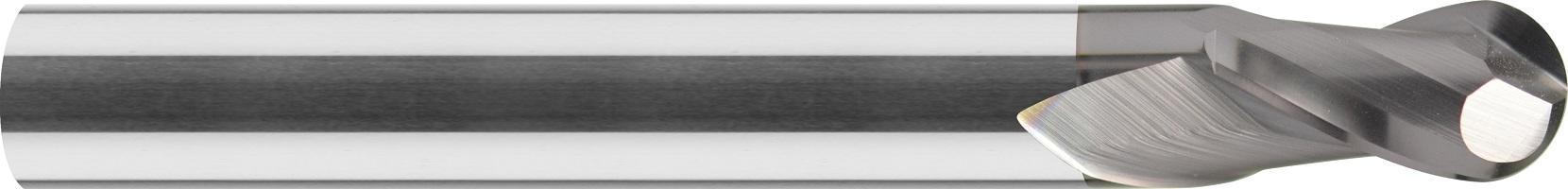 Frez kula, długi, Z-2, HA, 65 HRC, VHM TiALN (466)