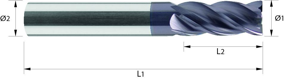 Frez 35/38°, promień naroża, Z-4, HB, 44 HRC, HPC, Starmax, VHM TiALN (479)