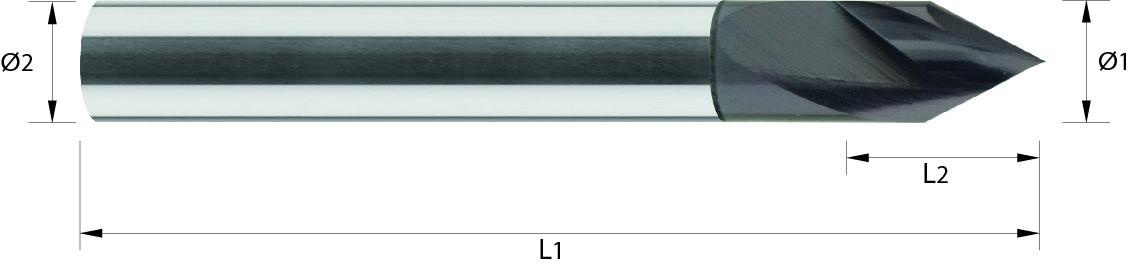 Frez do grawerowania 60° VHM TiALN (712)