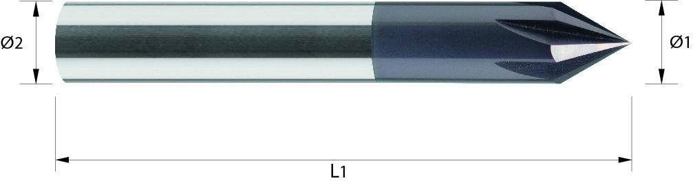 Gratownik 60° VHM TiALN / bez pokrycia (713)