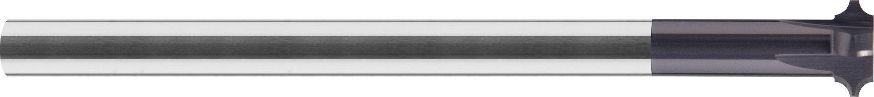 Frez, fazownik z promieniem wklęsłym do zaokrągleń wewn. i zewn. przelotowy, wsteczny, 65 HRC, INOX, ALUMINIUM, VHM TiALN (730)