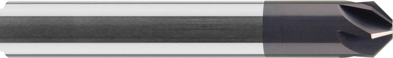Gratownik, Fazownik, 90°, 44 HRC, INOX,ALUMINIUM, VHM TiALN (731)